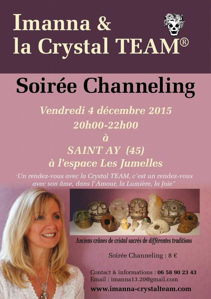 affiche Imanna soirée channel + consultations St Ay déc 2015